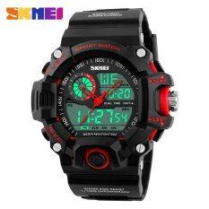 ราคา Skmei Men Sports Watches Digital Analog Military Multifunctional Wristwatches Waterproof Fashion Casual Quartz Watch 1029 Red Intl Skmei