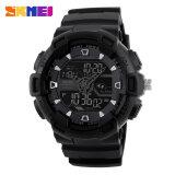 โปรโมชั่น Skmei นาฬิกากันน้ำพวกกีฬานาฬิกาดิจิตอลมัลติฟังก์ชันเตือนทหารผลึกแฟชั่นนาฬิกาข้อมือ Led สีดำ ใน สมุทรปราการ