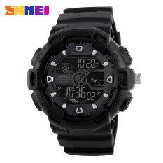 ราคา Skmei นาฬิกากันน้ำพวกกีฬานาฬิกาดิจิตอลมัลติฟังก์ชันเตือนทหารผลึกแฟชั่นนาฬิกาข้อมือ Led สีดำ เป็นต้นฉบับ