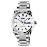 ซื้อ Skmei คนเงินนาฬิกาข้อมือสายสเตนเลส สีน้ำเงิน 9082 ใหม่