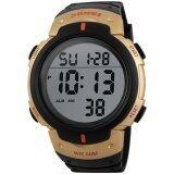 ส่วนลด สินค้า Skmei นาฬิกาแฟชั่น ดิจิตอล กันน้ำ ผู้ชาย รุ่น 1068 สีทอง Sport Waterproof Digital Led Men Watch Gold