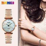 ขาย Skmei New Fashion Women Quartz Watches Casual Dress Girls Wristwatches Rhinestones Waterproof Ladies Watch 1223 Rose Gold Shell Intl Skmei ใน จีน