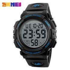ขาย Skmei New Sports Watches Men Outdoor Fashion Digital Watch Multifunction 50M Waterproof Wristwatches 1258 Black Blue Intl ผู้ค้าส่ง