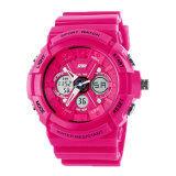 ราคา Skmei จอแสดงผล Led แบบกลางแจ้งผลึกนาฬิกาข้อมือ ร้อนสีชมพู เป็นต้นฉบับ