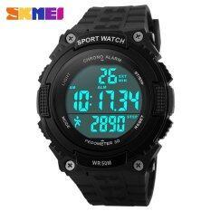 ราคา Skmei Outdoor Sports Watches Men Led 50M Waterproof Digital Pedometer Chronograph Wristwatches 1112 Intl เป็นต้นฉบับ