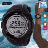 ขาย Skmei ของแท้ 100 ส่งในไทยไวแน่นอน นาฬิกาข้อมือผู้ชาย สไตล์ Sport Digital Watch บอกวันที่ ตั้งปลุก จับเวลา ตัวเลข Led ใหญ่ ชัดเจน กันน้ำ สายเรซิ่นสีดำ รุ่น Sk M1025 สีเทา Grey Skmei ออนไลน์