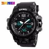 ขาย Skmei กีฬานาฬิกาแฟชั่นผู้ชายนาฬิกาควอตซ์แบบคู่นาฬิกา 50 เมตรกันน้ำนาฬิกาข้อมือ Relogio Masculino 1155B Skmei เป็นต้นฉบับ