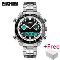 ซื้อ นาฬิกาข้อมือ Skmei กีฬาผู้ชายแฟชั่น 30 เมตรกันน้ำ Led อิเล็กทรอนิกส์นาฬิกาสุดหรู Shock สแตนเลสจอแสดงผลแบบ Dual นาฬิกาข้อมือ 1204 ใหม่ล่าสุด