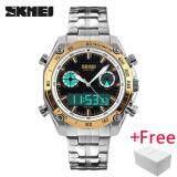 ทบทวน Skmei Sports Watch นาฬิกาข้อมือ Es Men Fashion 30M Waterproof Led Electronic Luxury Watch นาฬิกาข้อมือ Shock Stainless Steel Dual Display Wristwatch นาฬิกาข้อมือ Es 1204