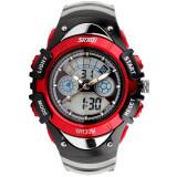 Skmei กีฬาลูกยางกันน้ำสำหรับบุรุษนาฬิกาข้อมือ Led รัด สีแดง 0998 Skmei ถูก ใน จีน