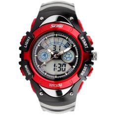 ซื้อ Skmei กีฬาลูกยางกันน้ำสำหรับบุรุษนาฬิกาข้อมือ Led รัด สีแดง 0998 ถูก จีน