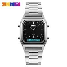 ขาย 1220 Skmei นาฬิกาผู้ชายแฟชั่นสบาย ๆ ควอตซ์นาฬิกาข้อมือดิจิตอลสองเวลากีฬานาฬิกาโครโนกราฟกลับแสง 30 เมตรกันน้ำนาฬิกา 1220 นานาชาติ Skmei ใน จีน