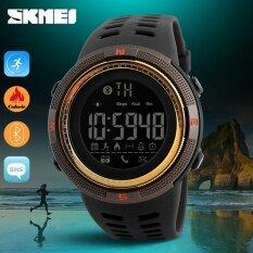 ซื้อ นาฬิกาข้อมือ Skmei นาฬิกา 1250 Men สมาร์ทนาฬิกาบลูทูธ Pedometer แคลอรี่ Chronograph แฟชั่นกีฬากลางแจ้งนาฬิกา El Backlight กันน้ำนาฬิกา ออนไลน์