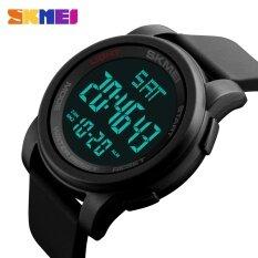 ขาย 1257 Skmei นาฬิกาผู้ชาย Led ชั่วโมงนาฬิกาข้อมือนาฬิกาข้อมือดิจิตอล นานาชาติ Skmei ถูก
