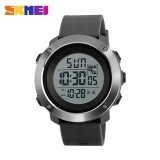โปรโมชั่น Skmei1268 Men Sports Time Double Digital Waterproof Led Display Watch Gray Large Intl ใน จีน