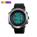 ซื้อ Skmei1268 Men Sports Time Double Digital Waterproof Led Display Watch Black Large Intl ถูก จีน