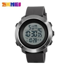 ขาย Skmei1268 Men Sports Time Double Digital Waterproof Led Display Watch Gray Large Intl