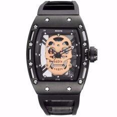 ซื้อ Skone Brand Pirate Skull Style Quartz Men S Watches For Men Military Silicone Strap Sports Wristwatch Waterproof 398702 Intl ถูก