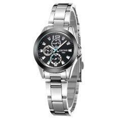 ความคิดเห็น Skone นาฬิกาแฟชั่น นักธุรกิจ สแตนเลส ผู้หญิง สีดำ Business Fashion Stainless Steel Analog Women Watch Black