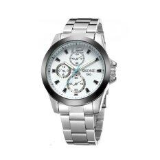 ราคา Skone นาฬิกาข้อมือผู้ชาย รุ่น Gp9168 White ใหม่
