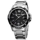 ขาย Skone Watches Men Stainless Steel Quartz Watch Man Clock Complete Calendar Round Casual Wristwatch ถูก