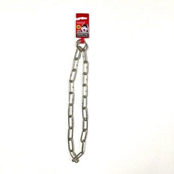 Sleeky Choke Chain Collar ปลอกคอโซ่ สำหรับ ฝึกสุนัข ทำจากสแตนเลส ขนาด 4 มม. ยาว 30 นิ้ว
