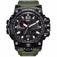 ขาย Smael รุ่น 1545 นาฬิกาข้อมือ นาฬิกาแฟชั่น ผู้ชาย สีเงิน Watch Waterproof Fashion Watch Men Sport Analog Quartz Watch Dual Display Led Digital Electronic Watches Relogio Silver Smael เป็นต้นฉบับ
