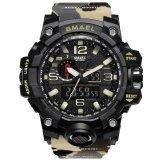 ขาย Smael Brand Men Watch นาฬิกาข้อมือ Dual Time Camouflage Military Watch นาฬิกาข้อมือ Digital Watch นาฬิกาข้อมือ Led Wristwatch นาฬิกาข้อมือ 50M Waterproof Sport Watch นาฬิกาข้อมือ Men Clock 1545B Unbranded Generic