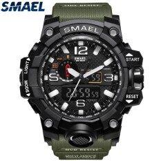 Smael แบรนด์นาฬิกาสปอร์ตผู้ชายแฟชั่นอะนาล็อกควอตซ์นำนาฬิกาดิจิตอลนาฬิกาอิเล็กทรอนิกส์ชายนาฬิกากันน้ำ - นานาชาติ By Juwell.