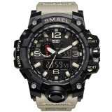 ราคา นาฬิกาแบรนด์เนม Smael 1545 ลวงตาควอตซ์นาฬิกาข้อมือผู้ชาย Militar ลำลองทหารนาฬิกาชายใหม่ Relogio Esportivo ใหม่