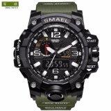 ราคา นาฬิกาสุดหรู Smael Dual Display นาฬิกาทหารนาฬิกาควอตซ์นาฬิกาผู้ชายกันกระแทกกีฬาดิจิตอลนาฬิกา ราคาถูกที่สุด