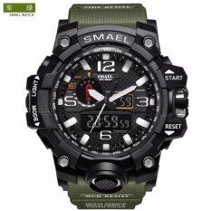 ขาย นาฬิกาสุดหรู Smael Dual Display นาฬิกาทหารนาฬิกาควอตซ์นาฬิกาผู้ชายกันกระแทกกีฬาดิจิตอลนาฬิกา ราคาถูกที่สุด