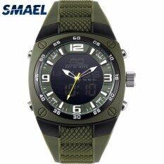 Smael นาฬิกาผู้ชายทหาร 2018 ใหญ่หมุนนาฬิกาสปอร์ตนาฬิกากันน้ำดำน้ำดิจิตอลควอตซ์นาฬิกาข้อมือผู้ชายนาฬิกา-นานาชาติ.