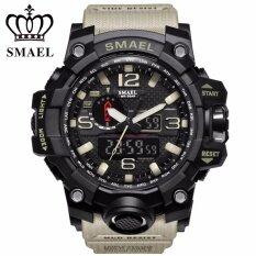 ราคา Smael New Outdoor Military Camouflage Sport Waterproof Double Display Mens Watch Led Multifunctional Electronic Watch Intl ราคาถูกที่สุด