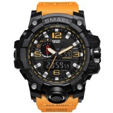 ขาย Smael นาฬิกา 1545 คู่แสดงนาฬิกาบุรุษทหารควอตซ์นาฬิกาผู้ชายช็อกทนกีฬาสไตล์ดิจิตอลนาฬิกา Relogio นานาชาติ Smael ถูก