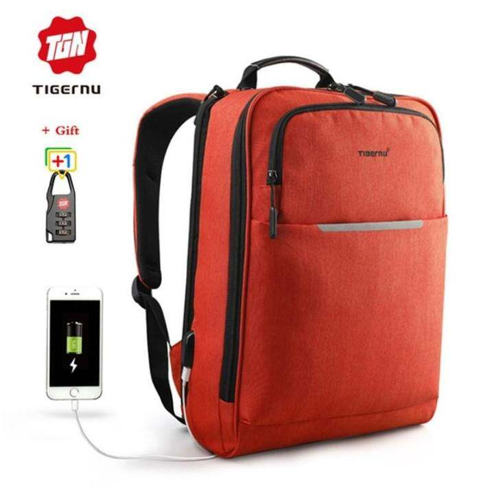 cfee11c28aef ซื้อที่ไหน (SNG-store) Tigernu Waterproof Oxford 14-inch Laptop Backpack  with External USB Charging Port Large Capacity Business ...