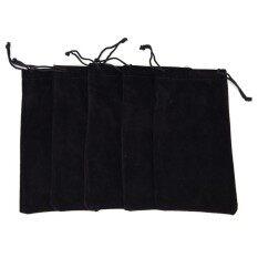 ราคา Soft Glasses Case Storage Pouch Bag Sunglasses Eyeglasses Cloth Pouch Bag Black Intl ที่สุด