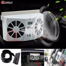 ซื้อ พัดลมระบายความร้อนในรถยนต์ Solar Powered Auto Car Window Air Vent Ventilator Mini Air Conditioner Cool Fan ออนไลน์