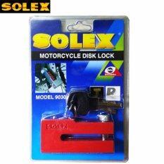 ราคา Solex กุญแจล็อค ดิสเบรค ล็อคดิส รถจักรยานยนต์ มอเตอร์ไซค์ รุ่น 9030 สีแดง ราคาถูกที่สุด