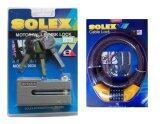 ขาย Solex ล็อคดิสเบรค รถจักรยานยนต์ สีเทา เคเบิ้ลล็อค หมุนรหัสล็อค กรุงเทพมหานคร