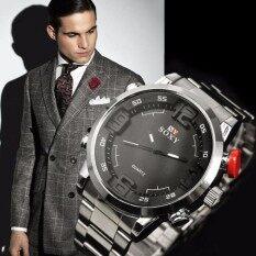 ขาย ซื้อ Soxy นาฬิกาข้อมือผู้ชาย สายสแตนเลส สีเงิน ดำ รุ่น Sx0095 ใน สมุทรปราการ