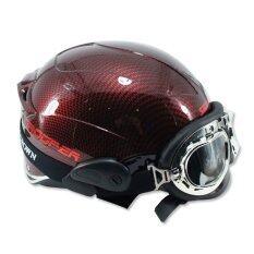 ขาย Space Crown หมวกกันน๊อค รุ่น ทูปเปอร์ B7 สีเคฟล่าแดง ผู้ค้าส่ง
