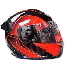 ซื้อ Space Crown หมวกกันน๊อค Fighter ลาย A 23 ดำ ส้ม Space Crown ออนไลน์
