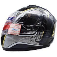 ซื้อ Space Crown หมวกกันน๊อค Fighter ลาย A 16 สีเทา ดำ
