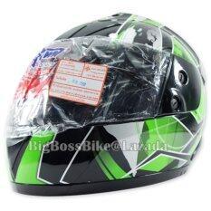 ซื้อ Space Crown หมวกกันน๊อค Fighter ลาย A 18 สีดำ เขียว ใหม่ล่าสุด