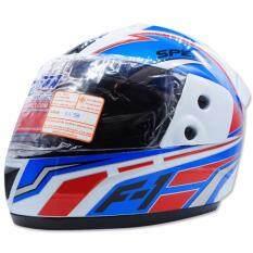 ราคา Space Crown หมวกกันน๊อค Fighter ลาย F 1 สีน้ำเงิน ขาว เป็นต้นฉบับ Space Crown