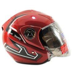 ซื้อ Space Crown หมวกกันน๊อค รุ่น ฟินิคลาย Sport Touring สีแดง Thailand