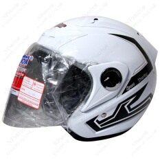 ขาย Space Crown หมวกกันน๊อค รุ่นฟินิกส์ ลาย Sport Touting สีขาว Space Crown เป็นต้นฉบับ