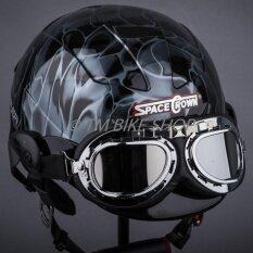 ราคา หมวกกันน็อค Space Crown รุ่น Trooper สีดำเทา Space Crown ออนไลน์