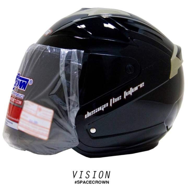 SPACE CROWN หมวกกันน็อค รุ่น VISION มีครบทุกสี